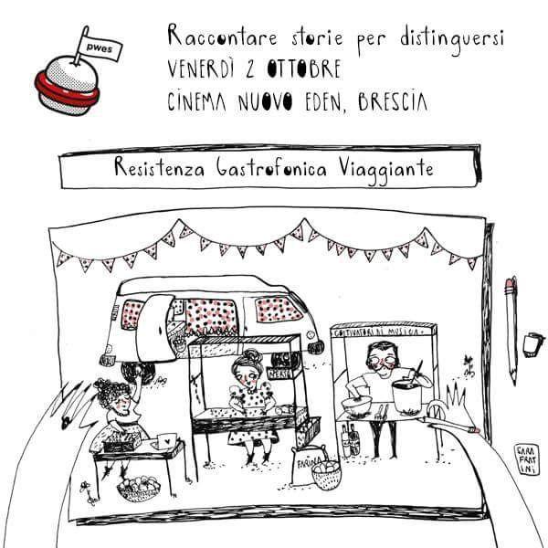 """Descrizione grafica del progetto """"resistenza GastroFonica viaggiante"""" #cucinaproletaria #cibo #strada #emancipazione #cucina #ilproletariodietroaifornelli #musica #antistreetfood #coltivatoridimusica #cibodastrada #resistenzagastrofonica credit Sara Fratini"""