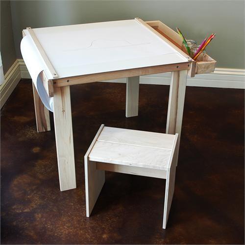 Art Table for Children   Eco Friendly Table   Child's Wooden Art TableButcher Paper, Art Crafts, Diy Children Tables, For Kids, Christmas Presents, Crafts Tables, Art Tables, Imagine Childhood, Wooden Art