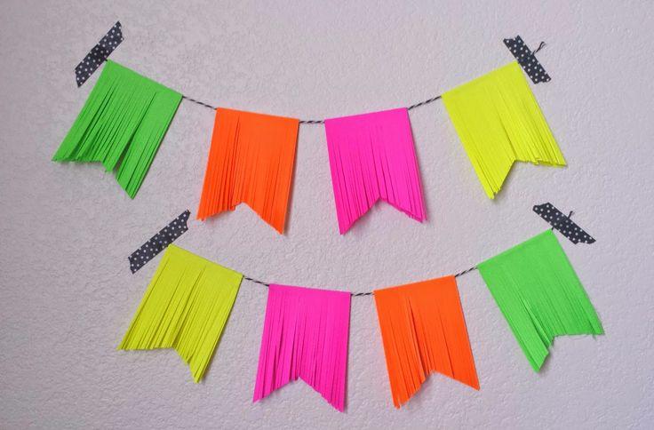 Neon Party Decorations - Sugar Bee Crafts