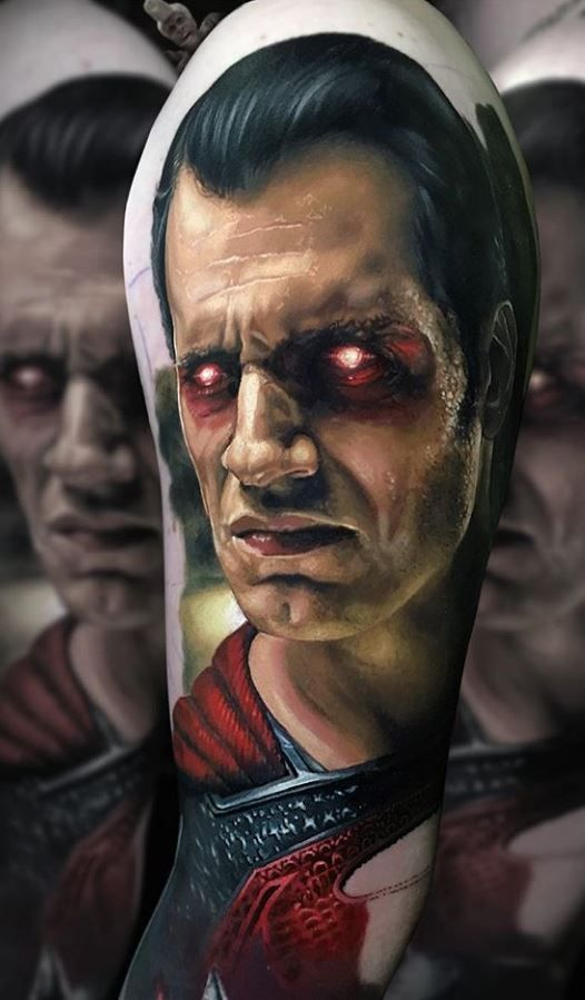 Evil Superman Tattoo