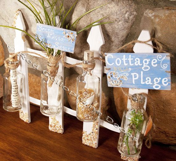 Beach Shabby Chic Centerpiece- RedCellophaneDecor