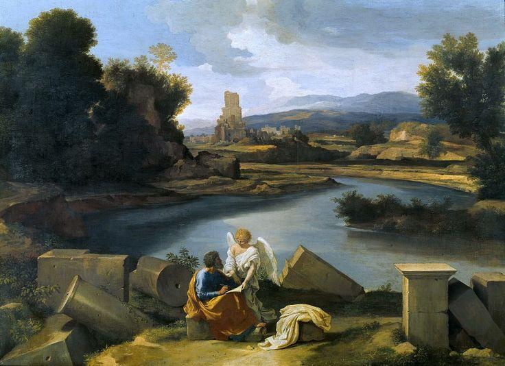 Пуссен, Никола (1594-1665) - Пейзаж со св Матфеем и ангелом. Часть 4