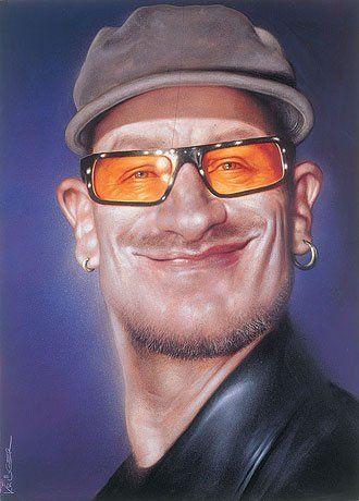 CELEB CARICATURES/ Bono...