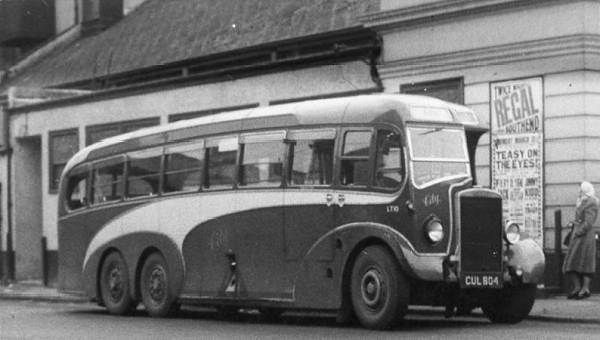 1947 6 wheel Leyland TS7T from 1936 rebodied by Heaver cul804 a