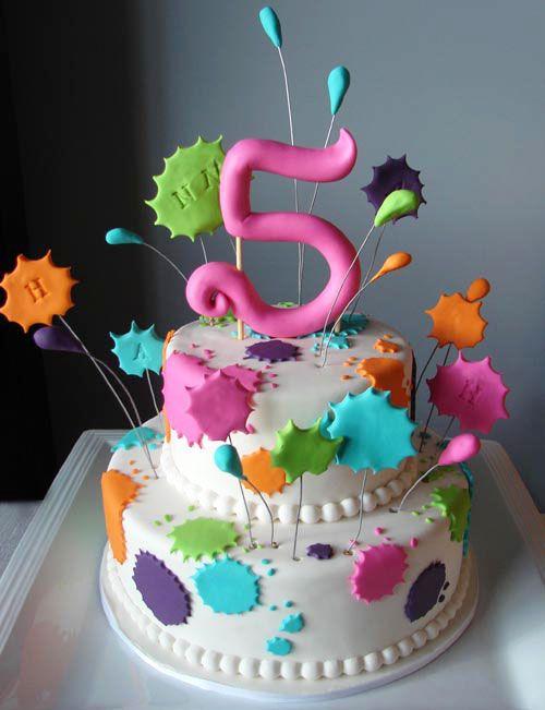 Splat Birthday Cake