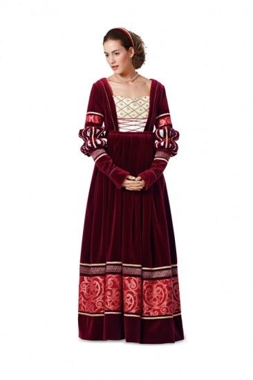 Burda - 7171 Historische jurk uit de renaissance | Naaipatronen.nl | zelfmaakmode patroon online