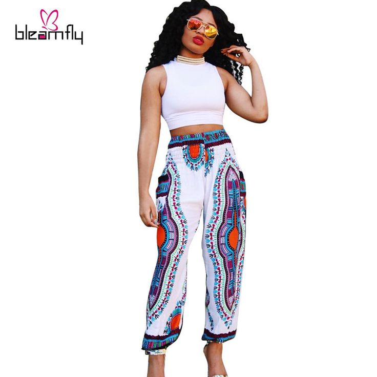 2016 Fashion traditional african print pants Women/Lady Riche Bazin Dashiki pants african clothing plus size thailand Trousers