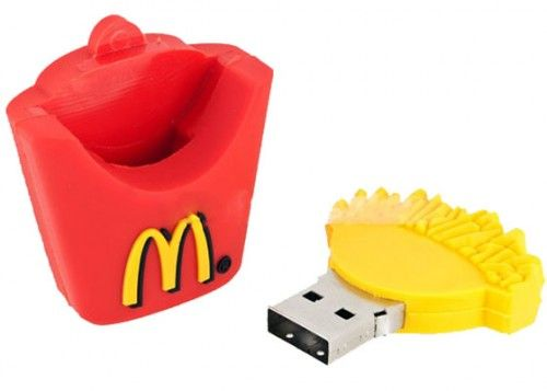 McDonald's French Fries Design USB Flash Drive - I'm like crying oh my god