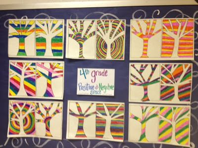 Melanie Lupien Art Class: 4th Grade Positive and Negative Space http://thecolorfulartpalette.blogspot.com/