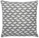 Prydnadskudde grå med vita elefanter. Elephant