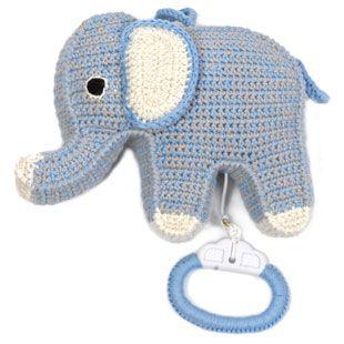 Anne-Claire Petit Elephant Music Box - Blu/Gry