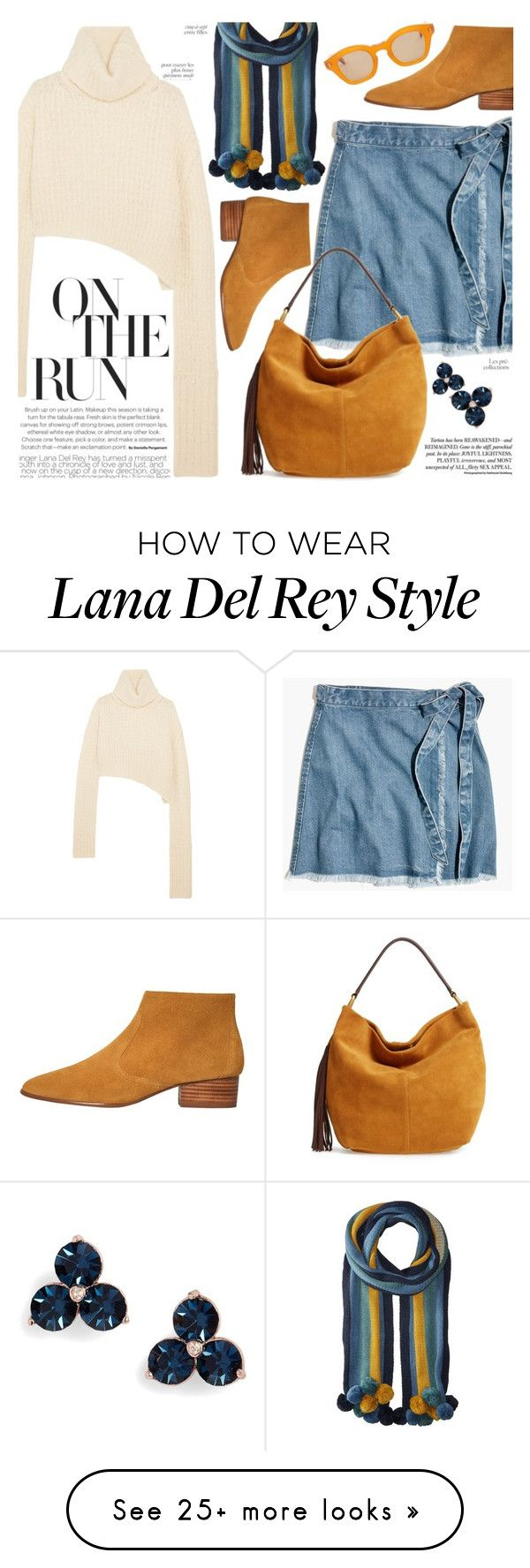 """""""denim wrap-around skirt"""" by paperdollsq on Polyvore featuring Ann Demeulemeester, BCBGeneration, Madewell, HOBO, MANGO, Kate Spade, By Terry and Hakusan"""