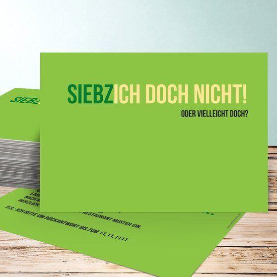 Siebzich Horizontal Einfach 148x105 Gelbgrün. 75 GeburtstagZitate  GeburtstagEinladung ...