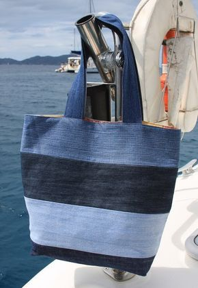 Tuto couture : réaliser son sac de plage fourre-tout avec des vieux jeans !