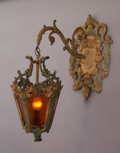 @ RARE Vintage Antique Ornate Italian Wall Sconce Lighting Light Lamp Lantern @