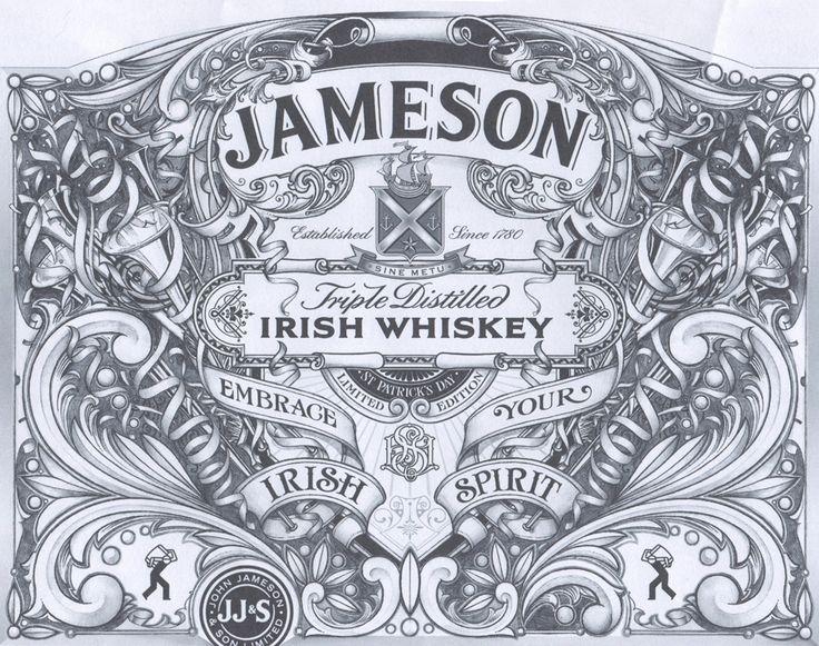 jameson whiskey st. patrick's day 2013 label design by david smith