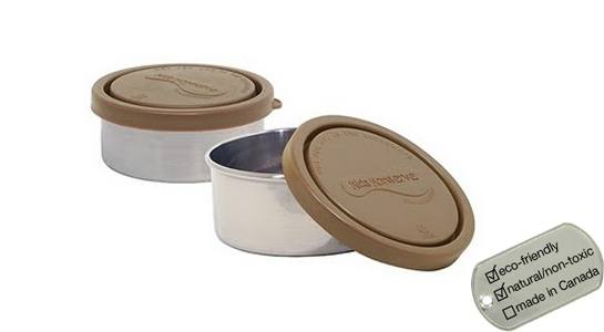 Small Leak Proof Stainless Steel Food Containers - round 2-pk