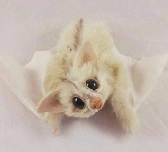 White Spirit Bat Realistic Art Doll RikerCreatures