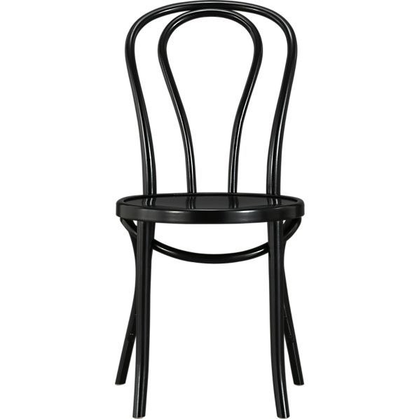 $129 Vienna Black Side Chair in Dining Chairs | Crate and Barrel