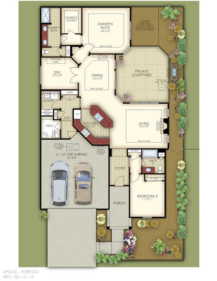 1000 images about portico on pinterest 2nd floor for House plans with portico garage