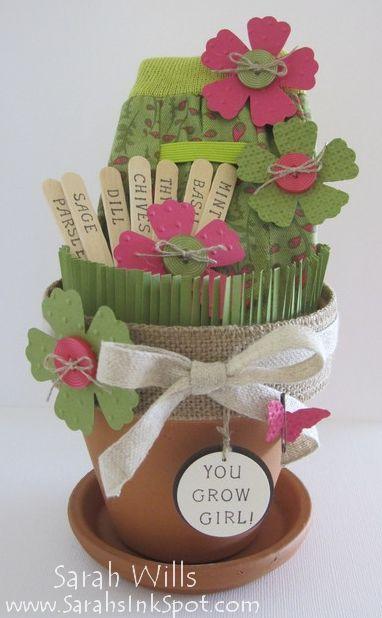 Garden Gift: Using Stamping/papercraft supplies.