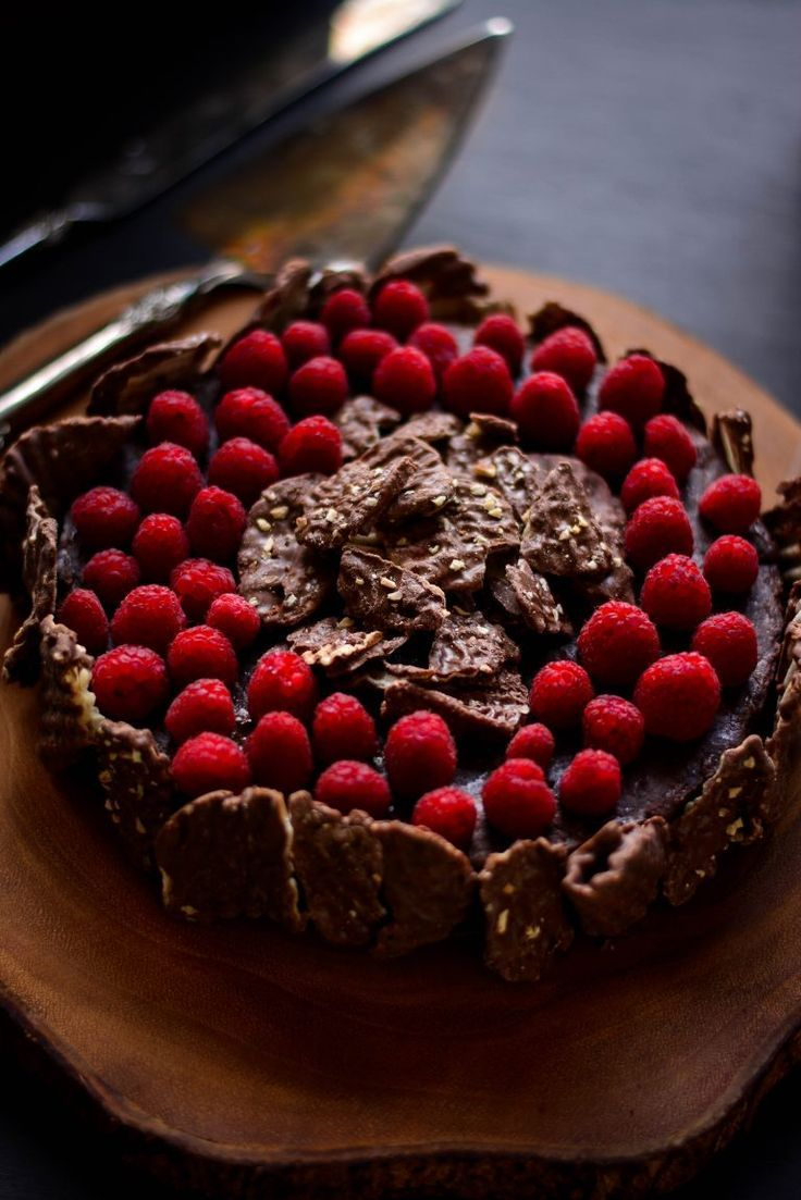 Enter Sensual Chocolate Heaven with this Chocolate Oblivion Torte w/ Chocolate Wavy Lays Potato Chips, almond-biscuit base topped with tart raspberries! You're welcome, World! #ad #SweetnSaltyHoliday #Chocolate #Torte #Cake #Holiday #LimitedEdition #WavyLays #LaysChips #PotatoChip