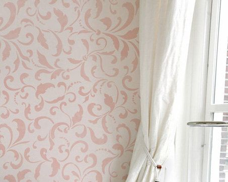 Large Wall Stencil Tailfeathers Allover Stencil for Custom Painted Wallpaper