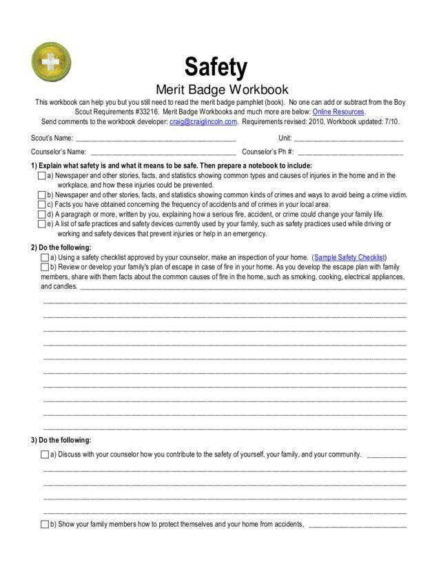 12th Grade English Worksheets Safety Merit Badge Worksheet For 5th 12th Grade Lesson Merit Badge 12th Grade English Social Studies Worksheets