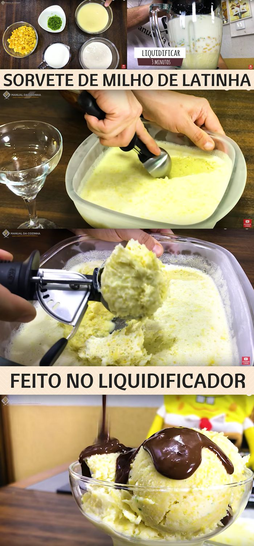 SORVETE DE MILHO DE LATINHA DELICIOSO – RECEITA DA MINHA MÃE – FÁCIL E RÁPIDO! #sorvete #comida #sobremesas #manualdacozinha #alexgranig