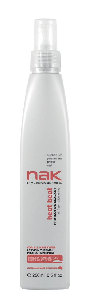 nak heat beat protective sealant / designed for all hair types #sulphatefree #parabenfree #protect #seal