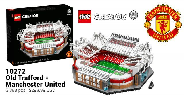 Lego Reveals Creator Expert Football Stadium 10272 Old Trafford Manchester United News In 2020 Old Trafford Manchester United Lego