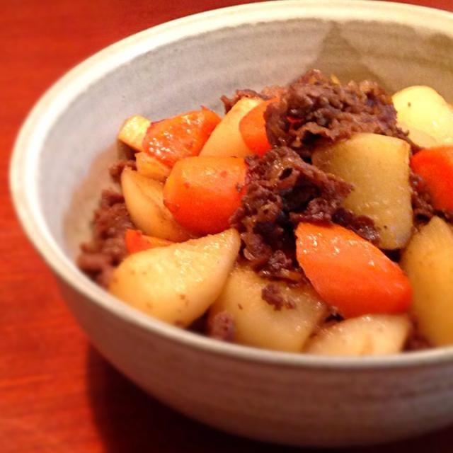 ごはんがススムくんです❤️ - 152件のもぐもぐ - 牛肉と大根、人参の中華風炒め煮 by happyhannah
