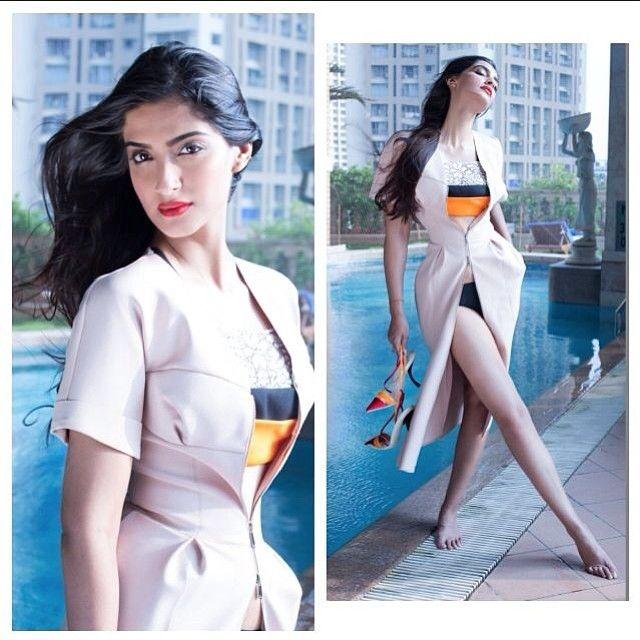 Sonam Kapoor In Dior On Magazine Cover .
