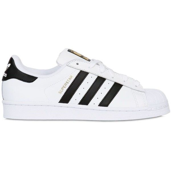 ADIDAS ORIGINALS Superstar Leather Sneakers - White/Black found on Polyvore