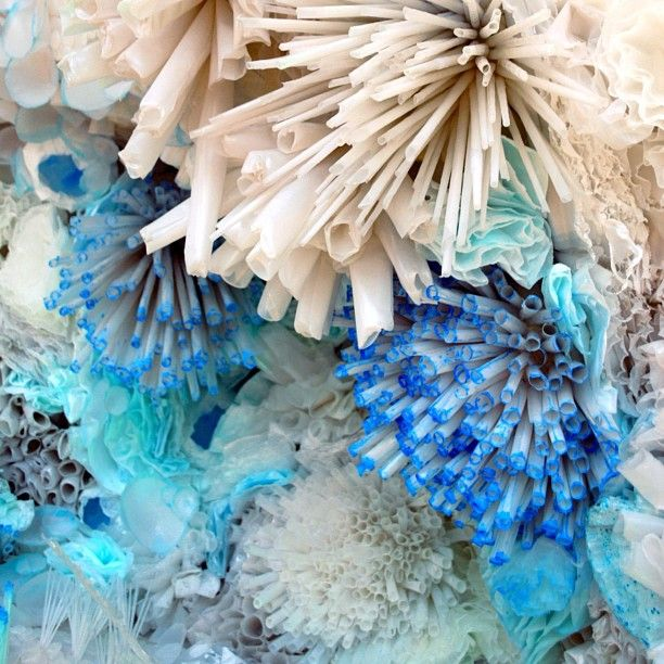 Recreating coral with straws