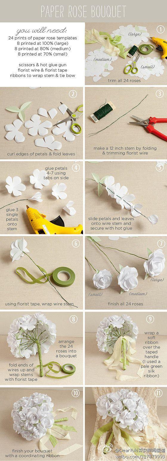 Como-hacer-un-ramo-de-rosas-blancas.jpg 560×1,546 pixels
