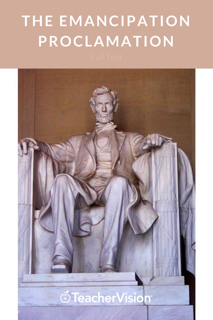 The text of the Emancipation Proclamation. (Grades 3-12 - useful for Presidents' Day lesson planning.)
