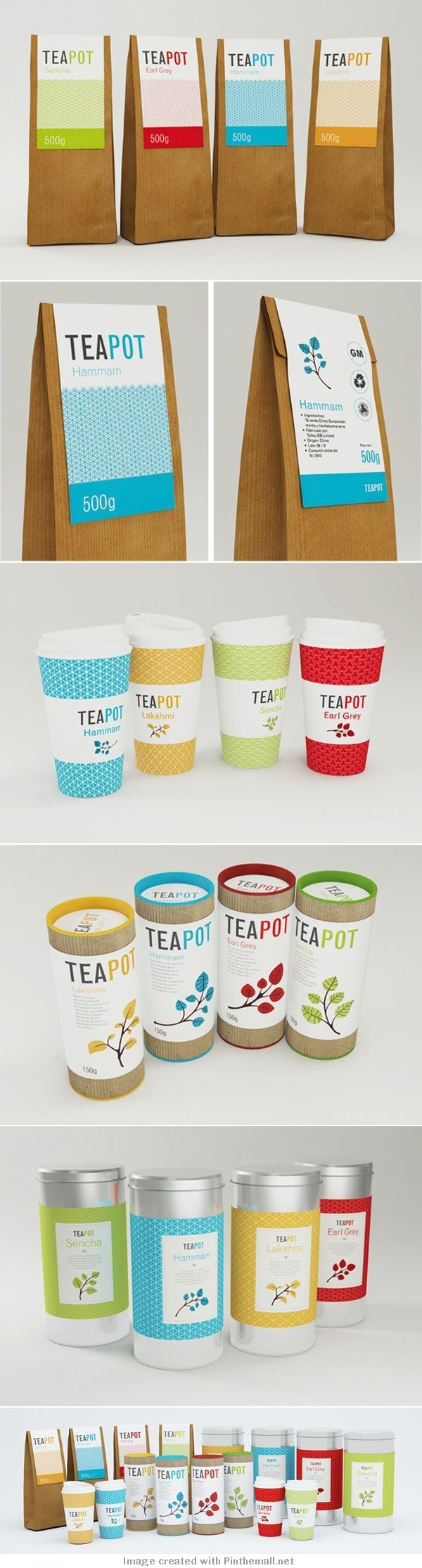 Tea packaging. Doesn't everyone need teapot #packaging PD