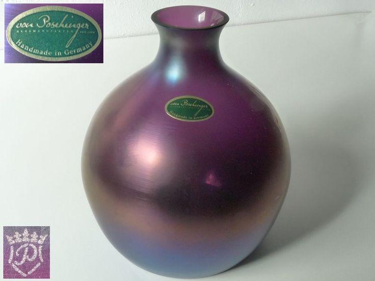 Poschinger Vase, lila irisierend | eBay