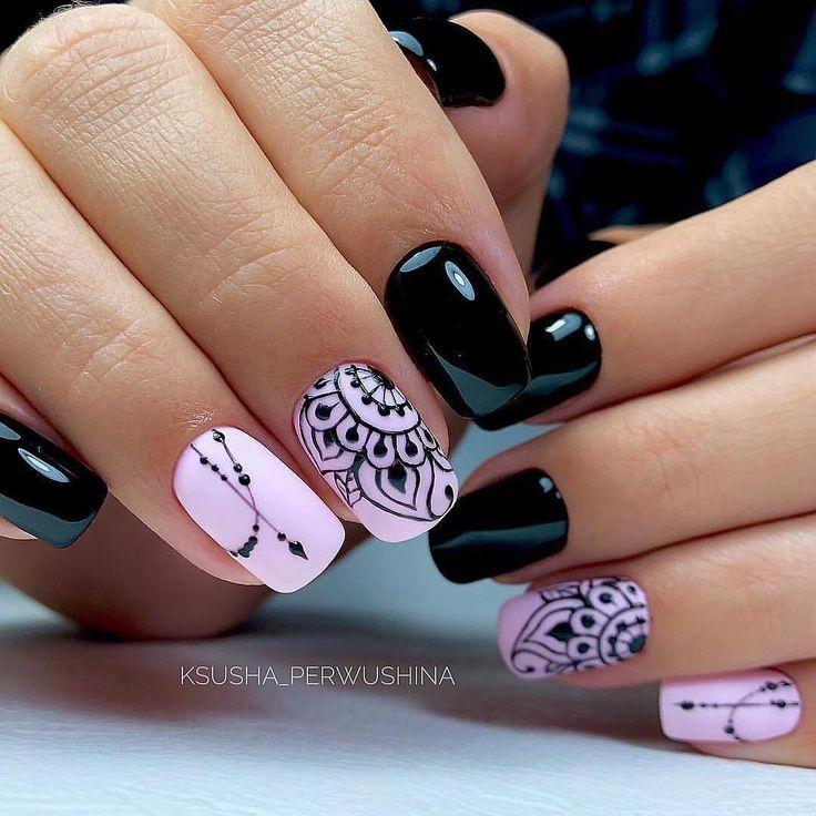 80+ Dark Color Nail Designs for Women – #color #Dark #Designs #Nail #women