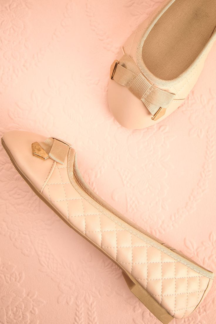 Boaco Douceur #boutique1861 / These lovely little ballerina flats will definitely put a spring in your step!  The round toe, little bow with gold detailing, and quilted texture blend beautifully to create a comfortable, classy shoe.