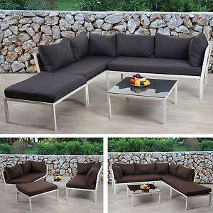 Marvelous Details zu Poly Rattan Sofa Garnitur Delphi Sitzgruppe Lounge Set Stahl Alu