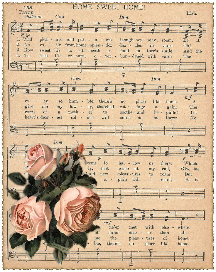 Musicsheet Home Sweet Home rose -©CW