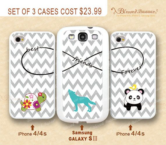 official photos fe187 bb232 Best friends Forever, infinity, Chevron, Wolf, Turtle & Panda iPhone ...