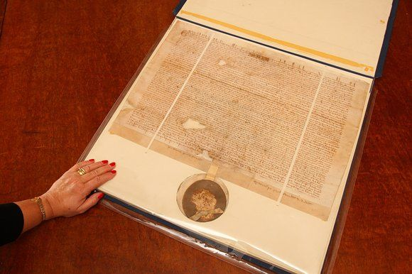 The Magna Carta at Faversham town hall in Kent could be worth £20m