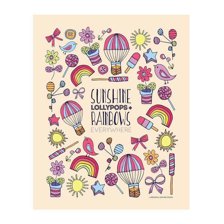 Sunshine Lollypops & Rainbows Everywhere
