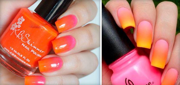 Маникюр оранжевого цвета