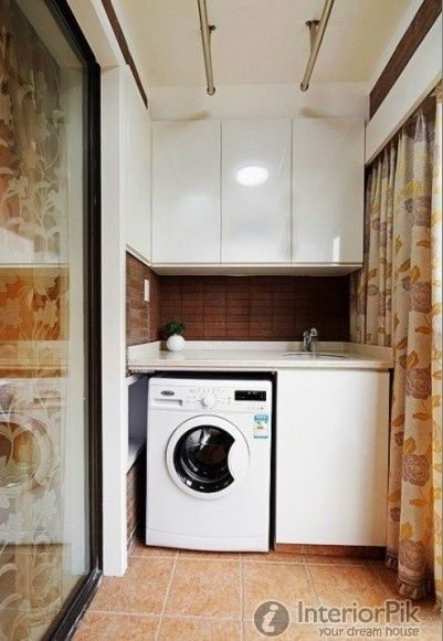 Design Of Enclosed Balcony Laundry Room Effect Chart
