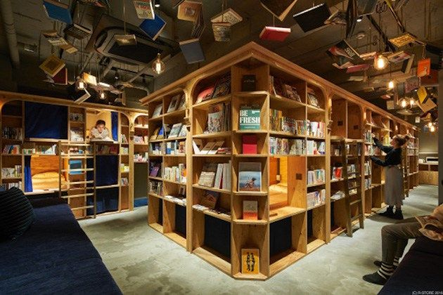 Sleep Inside A Comfy Bookshelf At Kyoto's New Bookstore-Themed Hostel