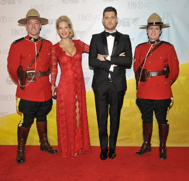 Host Michael Buble and wife Luisana Lopilato.  CARAS/iPhoto